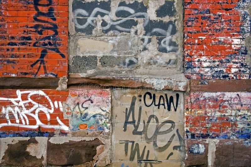 Muur van Graffiti stock foto's