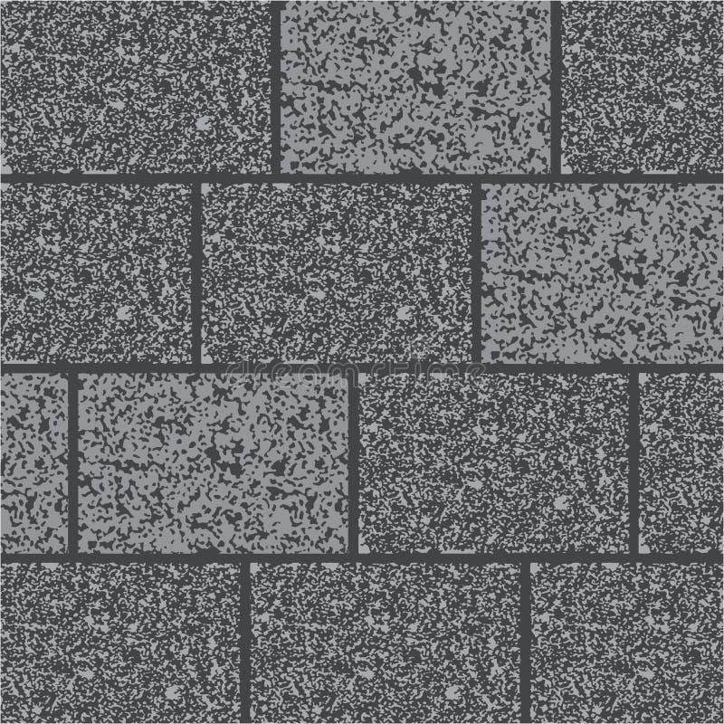 Muur van grijze granit Achtergrondpictogram stock illustratie