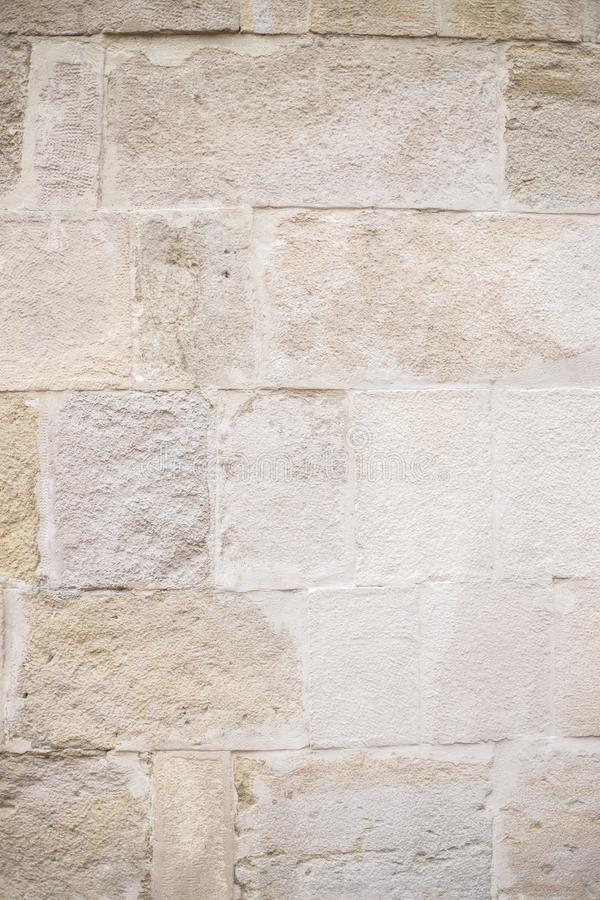 Muur van grote lichte baksteen royalty-vrije stock fotografie