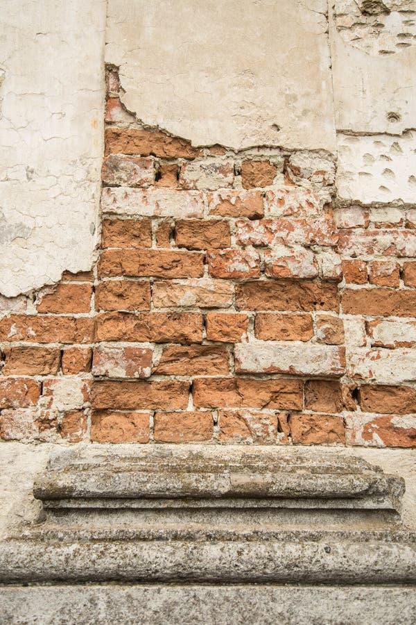 Muur van het instortende huis royalty-vrije stock foto