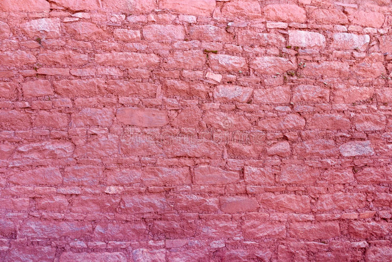 Muur van het Rode Paleis bij het Potala-Paleis in Lhasa, Tibet royalty-vrije stock fotografie