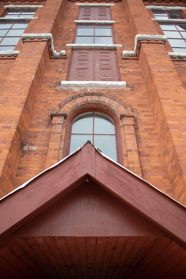 Muur van Historische OperaWoningbouw in Orillia Ontario royalty-vrije stock foto