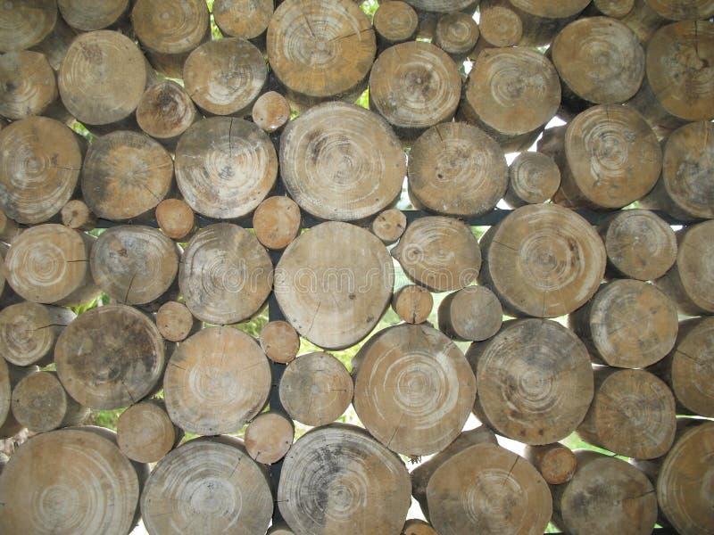 Muur van hout stock foto