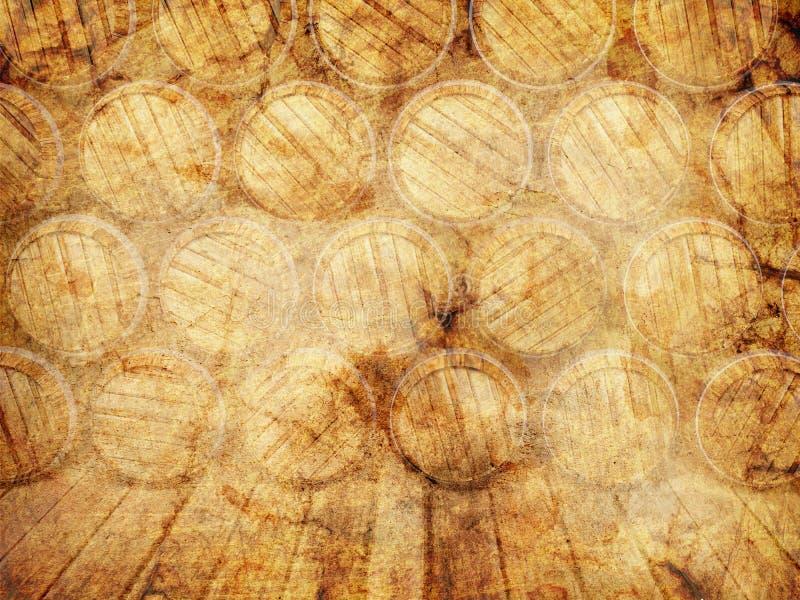 Muur van houten vaten vector illustratie