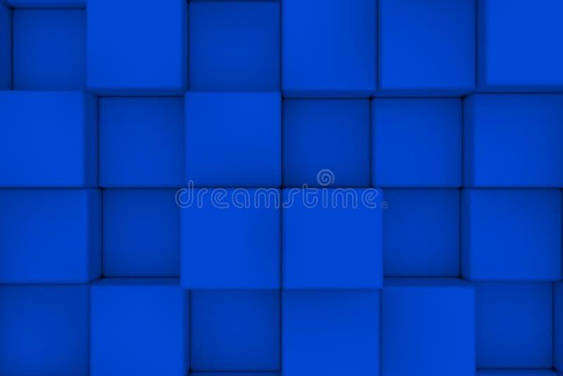 Muur van Kubussen abstracte achtergrond 3d geef terug vector illustratie