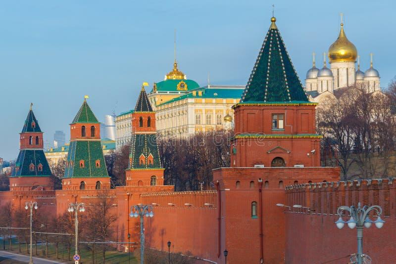 Muur van Moskou het Kremlin stock foto's