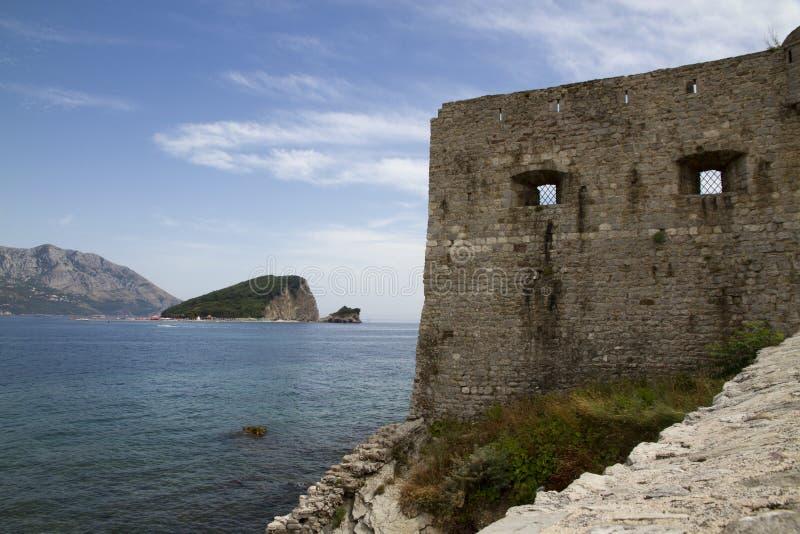 Muur van oude Budva royalty-vrije stock foto