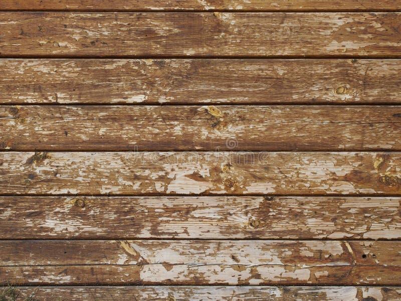 Muur van oude houten raad wordt gemaakt die stock afbeelding