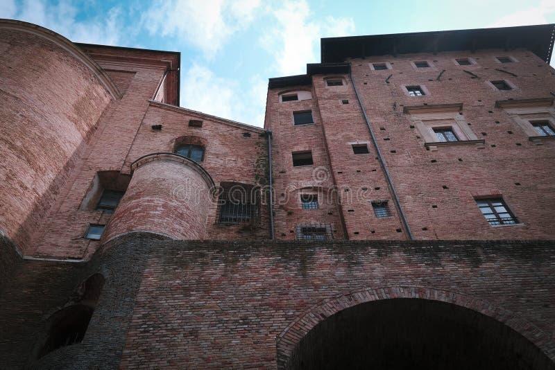 Muur van Palazzo Ducale in Urbino royalty-vrije stock afbeeldingen
