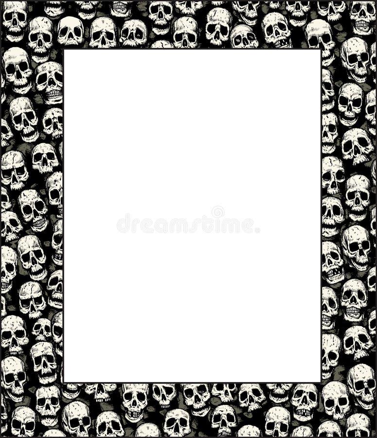 Muur van schedels royalty-vrije illustratie