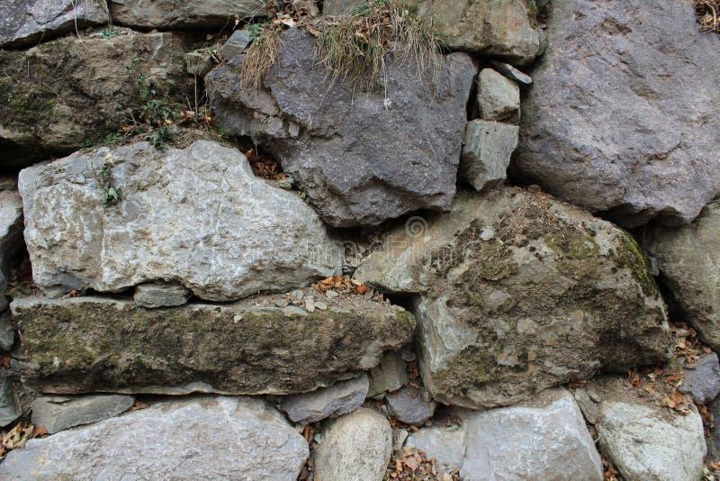 Muur van stenen royalty-vrije stock afbeelding