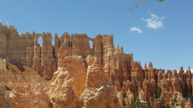 Muur van Vensters in Bryce Canyon royalty-vrije stock afbeeldingen