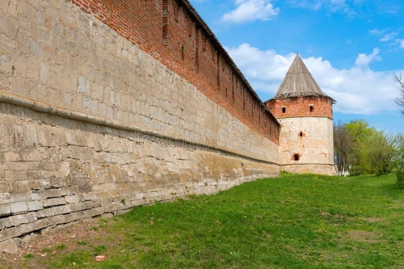 Muur van Zaraysk het Kremlin stock fotografie