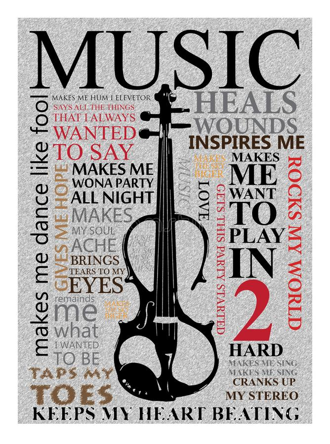 Muuraffiche voor muziek vector illustratie