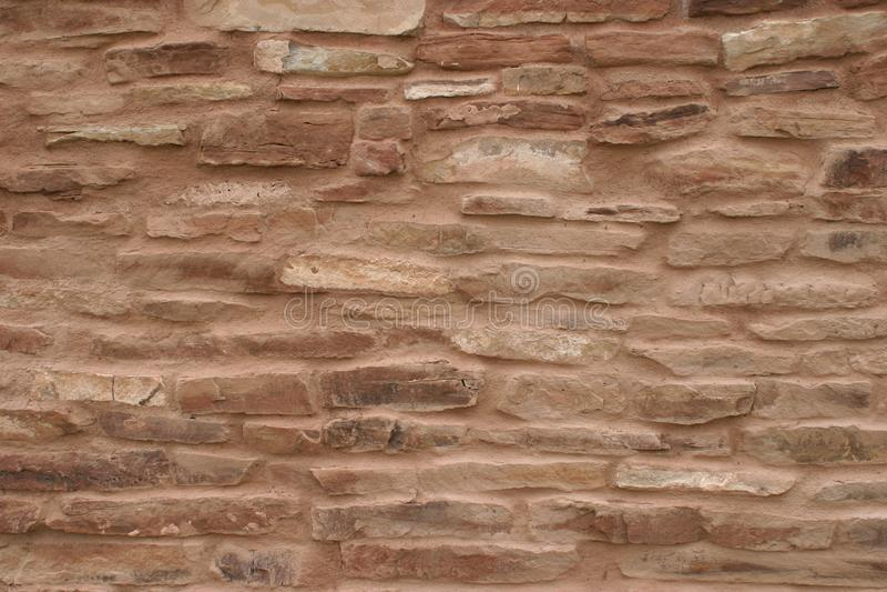 Muurclose-up van Opdracht in Abo Pueblo, New Mexico royalty-vrije stock foto's