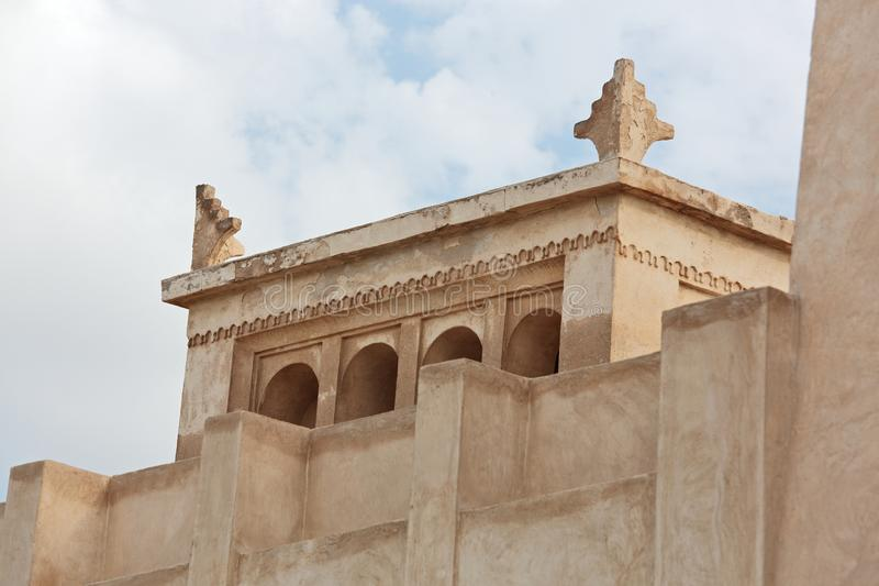 Muurdecoratie bij Shaikh Isa-bak Ali House in Bahrein royalty-vrije stock fotografie