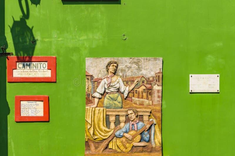 Muurhuis, La Boca, Argentinië royalty-vrije stock afbeelding