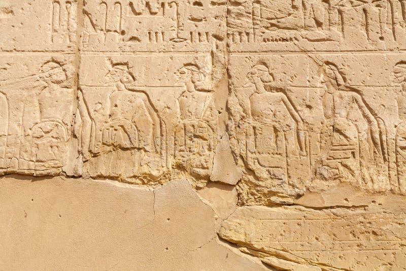 Muurhulp bij Karnak-Tempel Luxor, Egypte royalty-vrije stock afbeeldingen