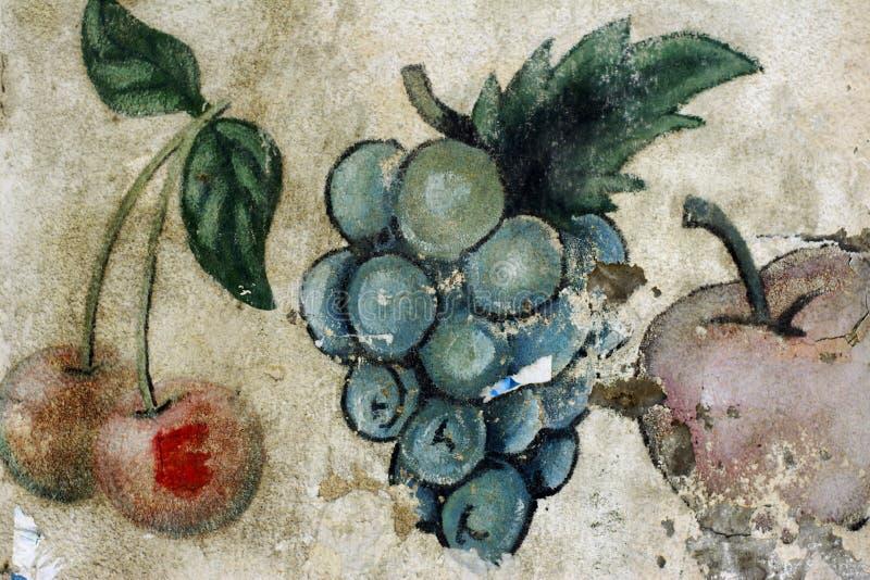 Muurschilderij royalty-vrije stock afbeeldingen