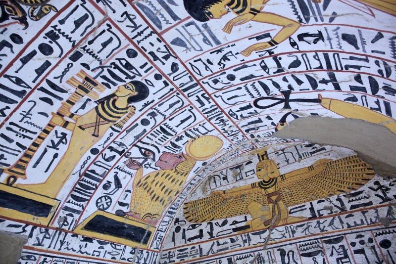 Muurschilderij en decoratie van het graf royalty-vrije stock foto