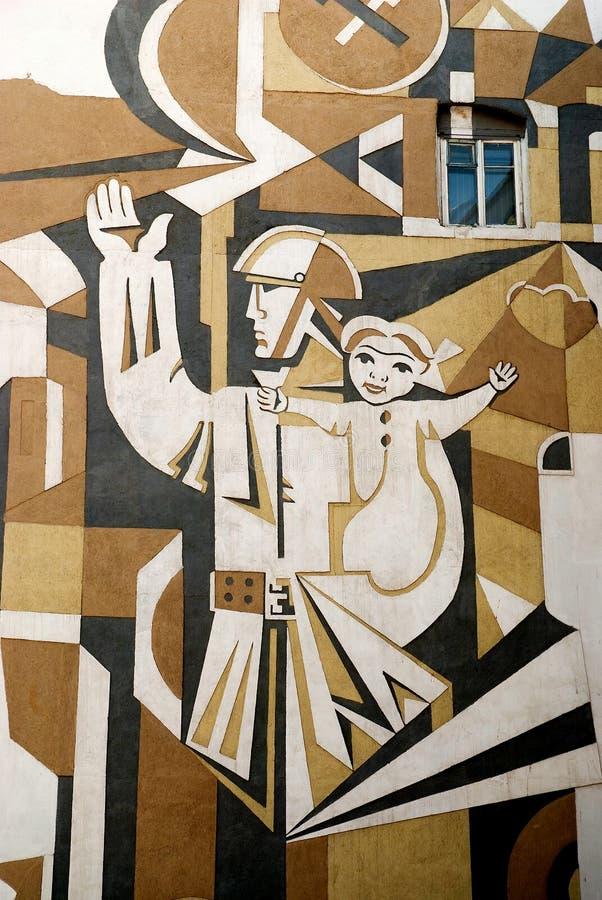 Muurschildering in baku azerbaijan royalty-vrije stock fotografie