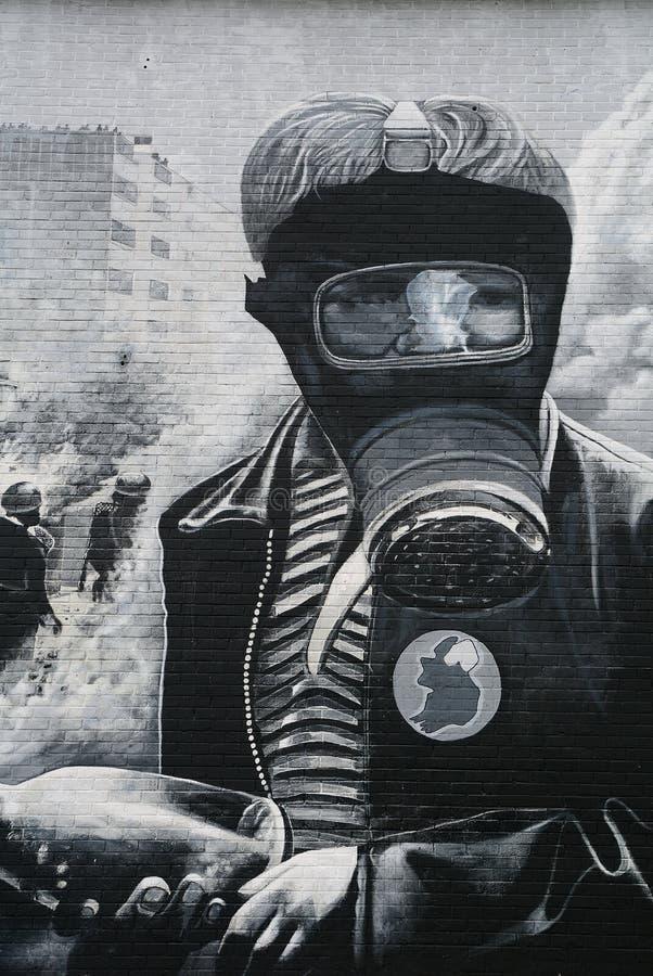 Muurschildering in Bogside, Derry, Noord-Ierland royalty-vrije stock afbeeldingen