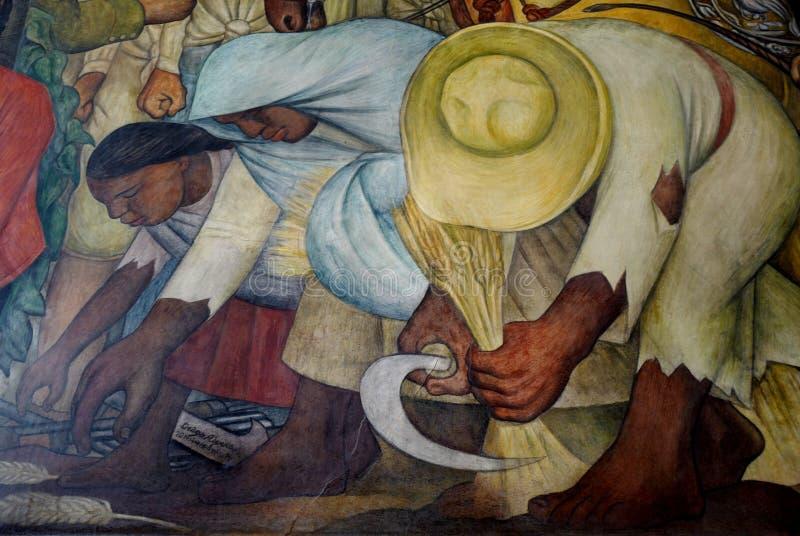 Muurschildering door Diego Rivera, Mexico royalty-vrije stock afbeeldingen