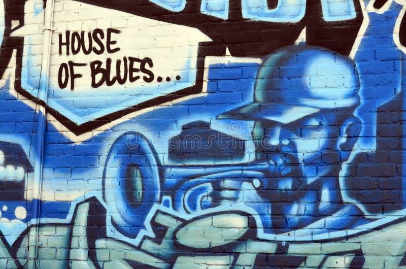 Muurschildering Halifax van de binnenstad stock fotografie