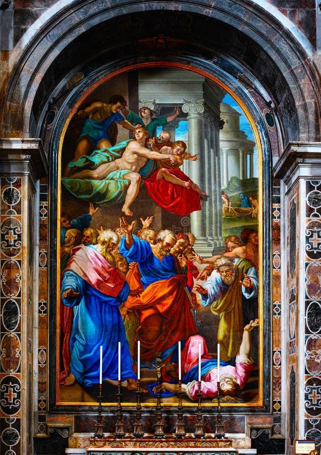 Muurschildering van de Basiliek van Heilige Peter royalty-vrije stock foto's