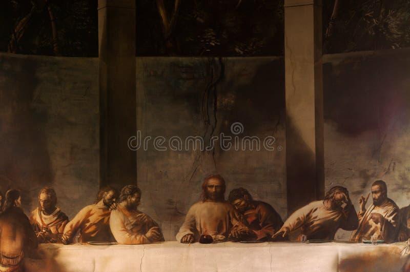 Muurschildering van het Laatste Avondmaal royalty-vrije stock foto's