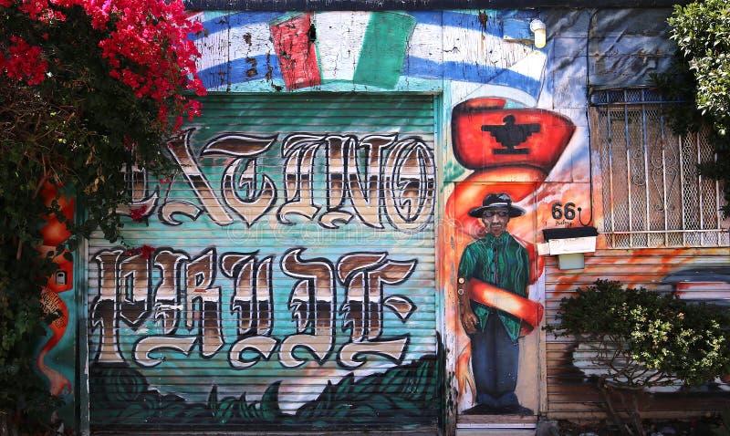 Muurschilderingen van Zachte Steeg, San Francisco, Californië, de V.S. royalty-vrije stock foto