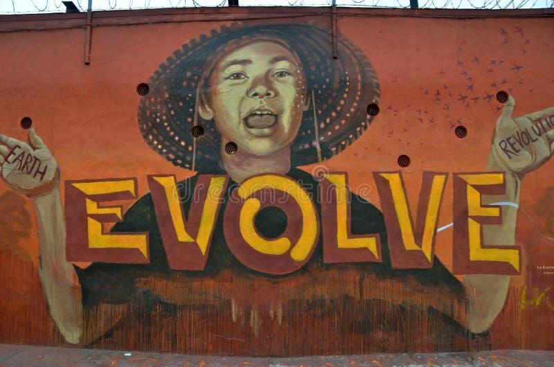 Muurschilderingkunst bij het Oosten Williamsburg in Brooklyn, NYC stock foto