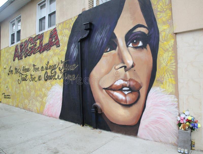 Muurschilderingkunst in Staten Island, New York stock afbeeldingen