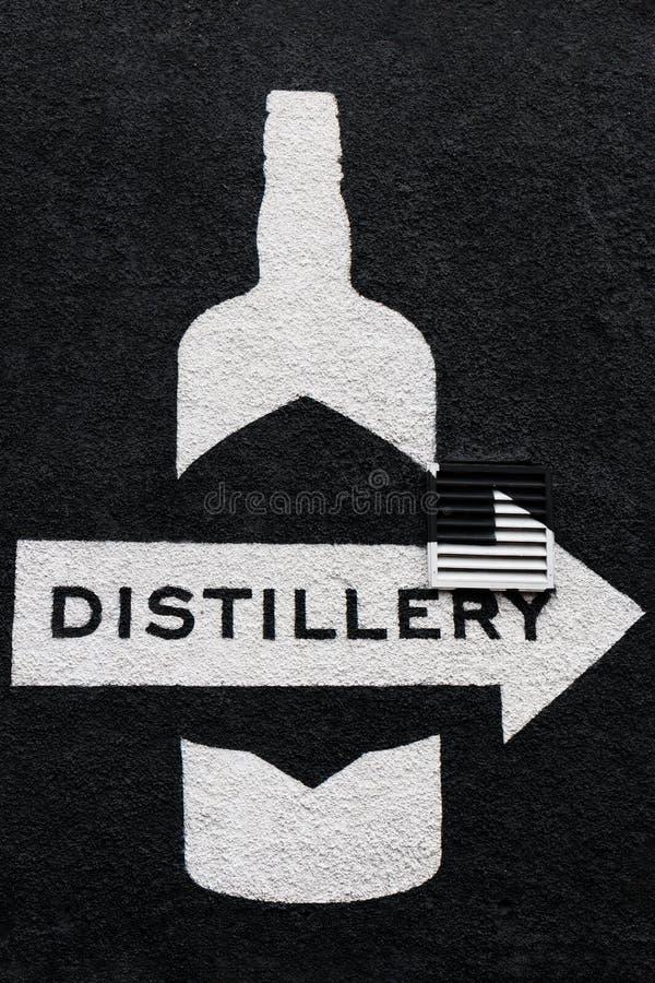 Muurteken dichtbij Teeling-Whiskydistilleerderij in Dublin stock foto's
