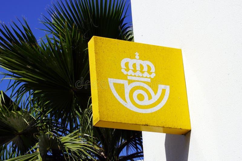 Muurteken van een Correos-postkantoor stock afbeelding