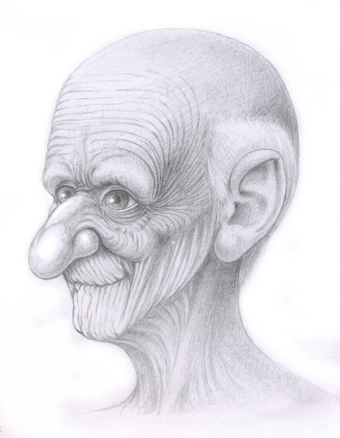 Muy viejo hombre libre illustration