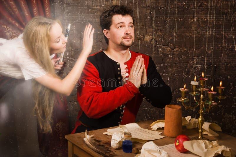 Muza inspiruje kompozytora obraz royalty free