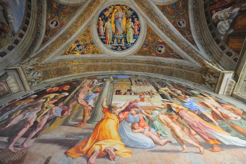 muzealni malowidło ścienne obrazy Vatican zdjęcia royalty free