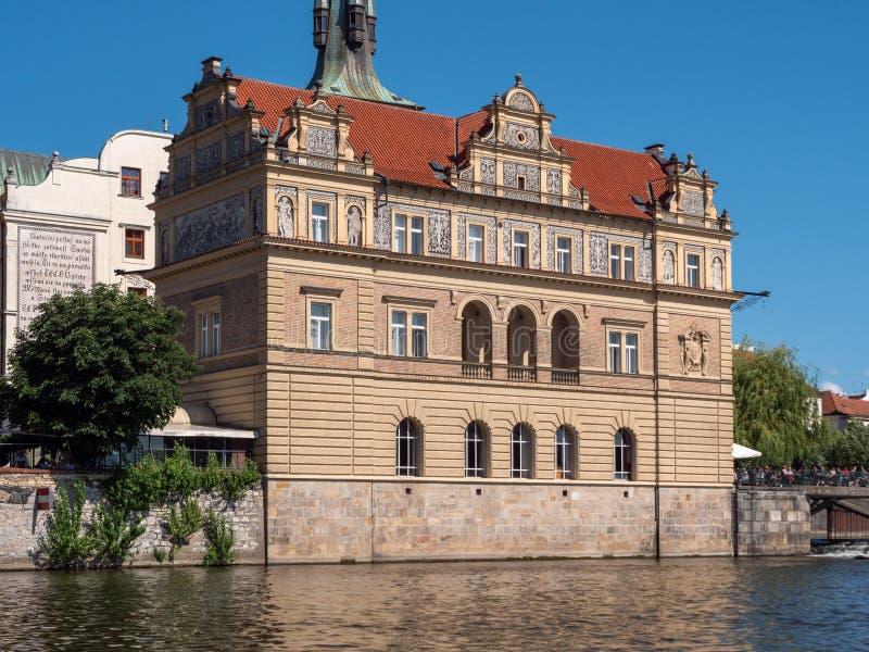 Muzealny Bedrich Smetana Stara miasteczko wody stacja w Praga, poprzedni, republika czech obraz royalty free