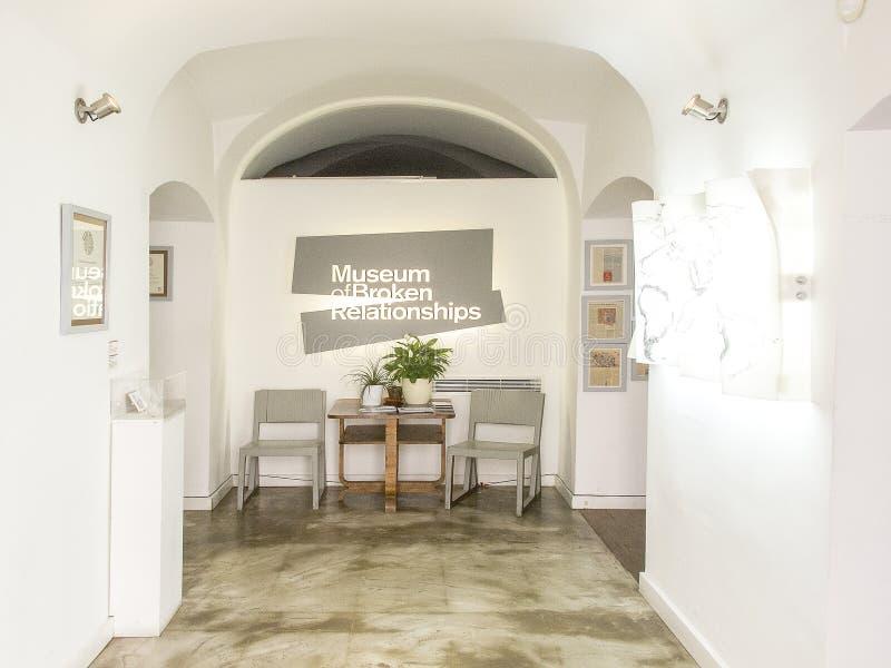 Muzeum Łamani związki w Zagreb obraz stock