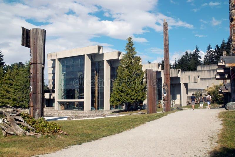 Muzeum antropologia, UBC, Vancouver BC zdjęcia stock