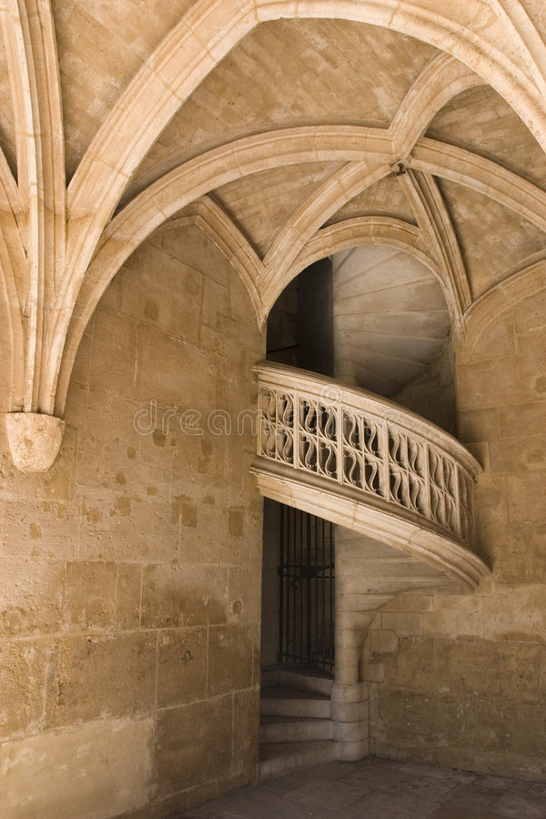 muzeum cluny stare schody Paryża obraz stock