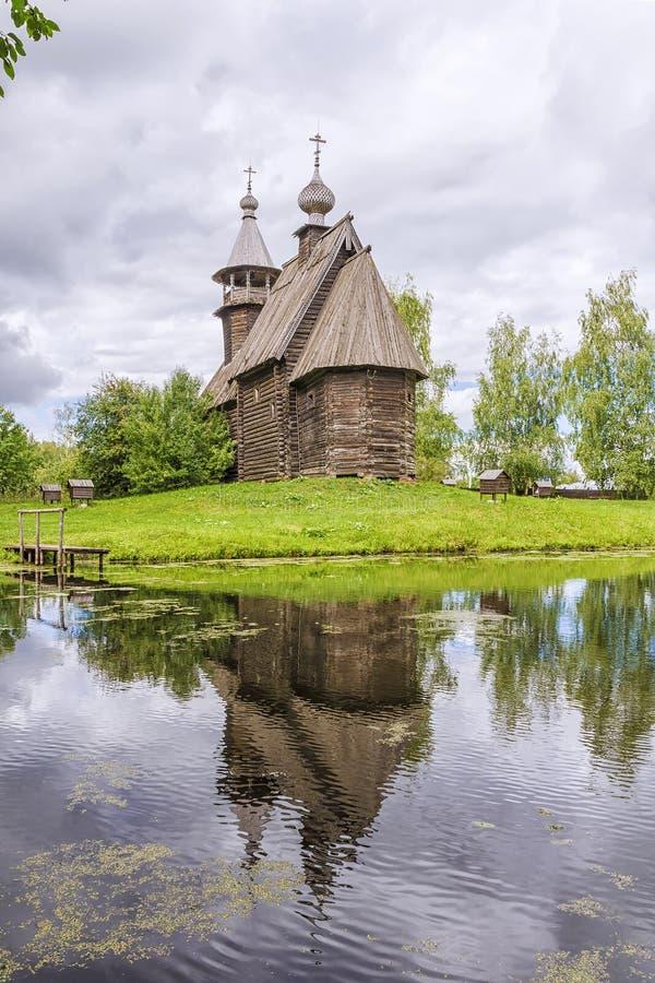 Muzeum drewniana architektura w Kostroma, Rosja fotografia royalty free