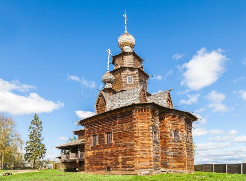 Muzeum drewniana architektura w Suzdal obrazy stock