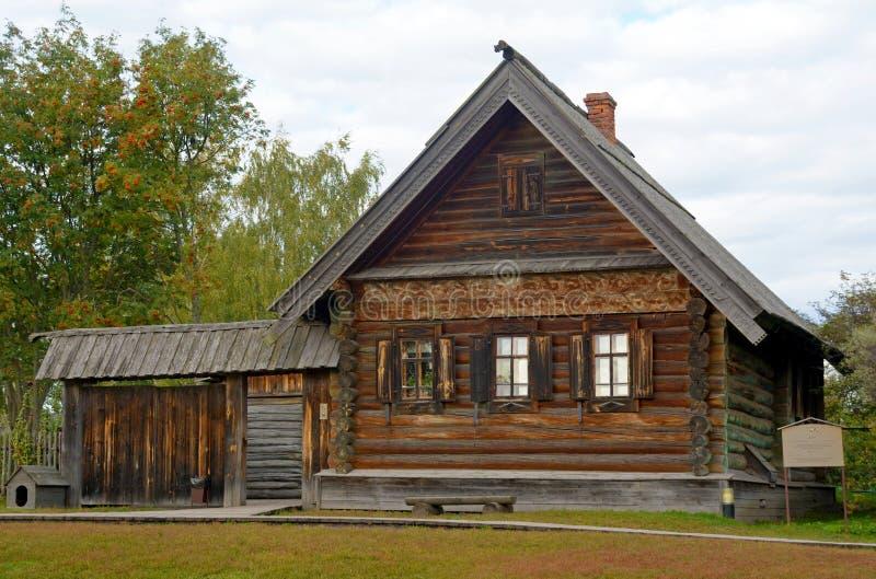 Muzeum Drewniana architektura w Suzdal miasteczku obrazy stock