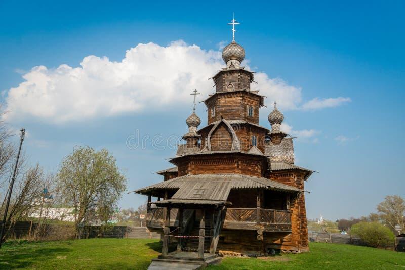 Muzeum drewniana architektura w Suzdal, Rosja zdjęcia royalty free