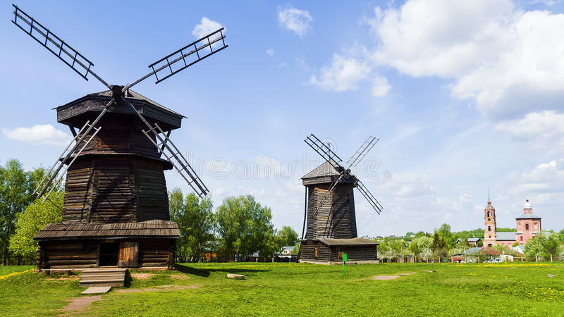 Muzeum drewniana architektura w Suzdal, Złoty pierścionek Rosja obraz royalty free
