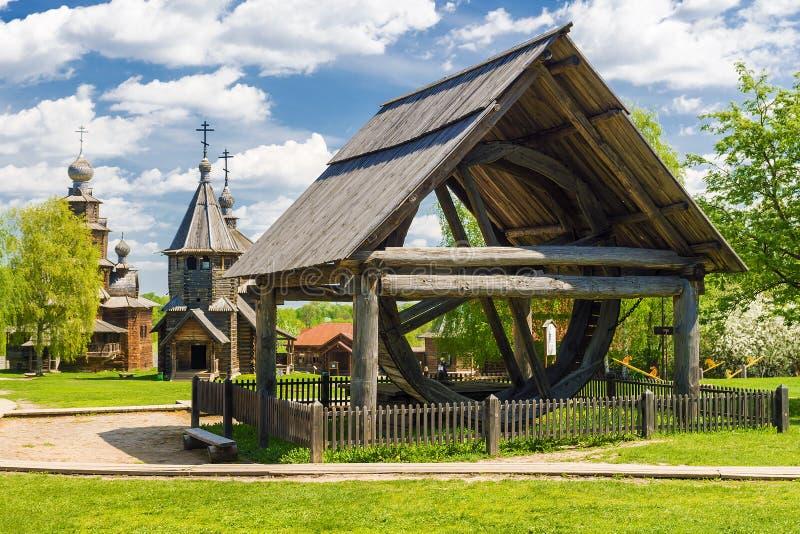 Muzeum drewniana architektura w Suzdal, Złoty pierścionek Rosja zdjęcie royalty free