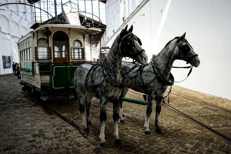 Muzeum elektryczny samochód w Porto fotografia royalty free