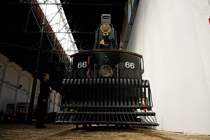 Muzeum elektryczny samochód w Porto zdjęcia royalty free